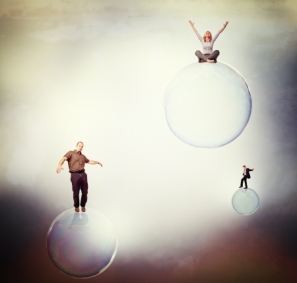 15289378 - different people on soap bubble