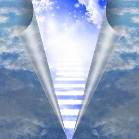 21639547 - stairway in sky is revealed