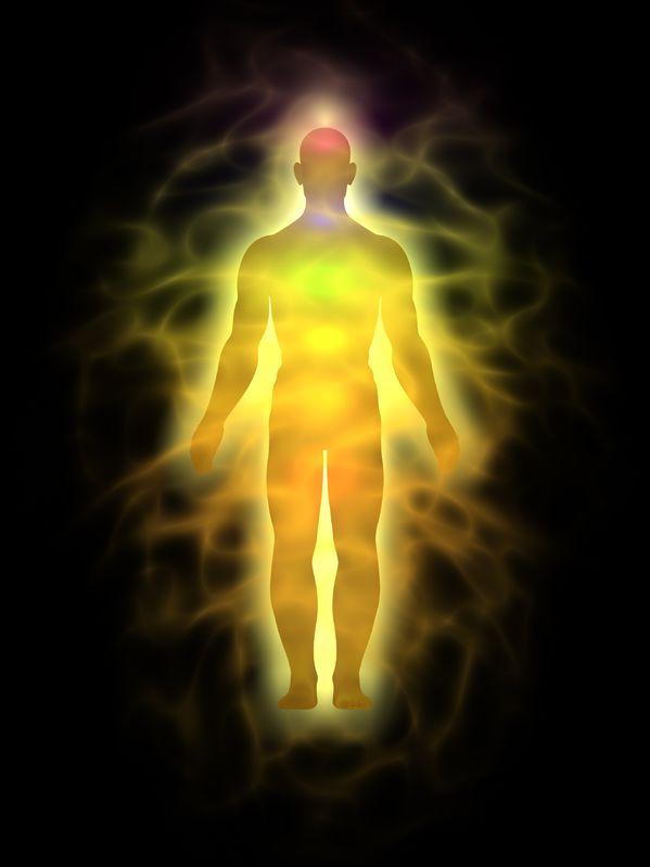 12995485 - man energy body, aura - silhouette