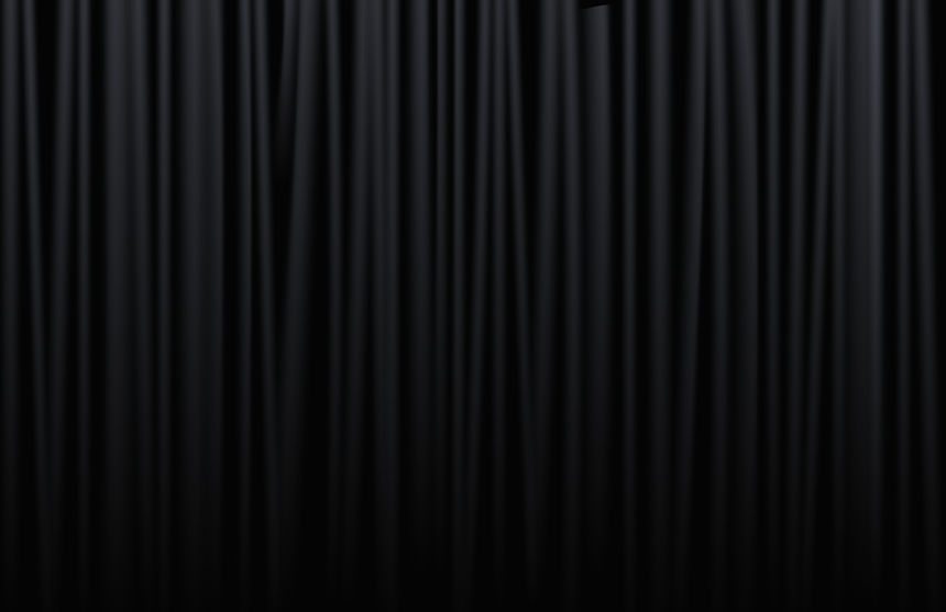 Curtain from the theatre