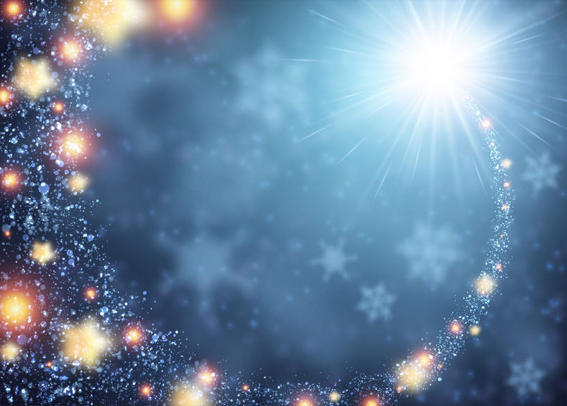 48105490 - blue sparkling background with stars. vector illustration.