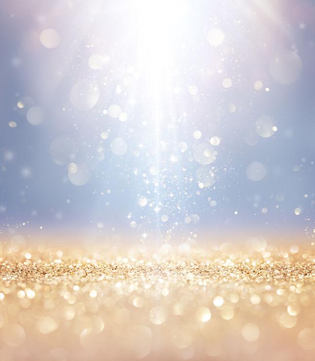 glittery light
