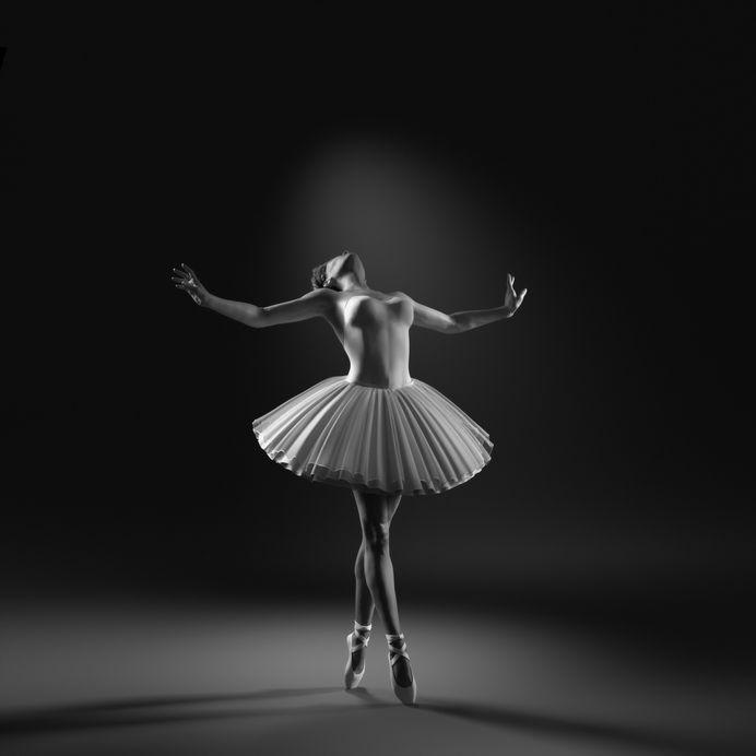 Young and beautiful ballerina