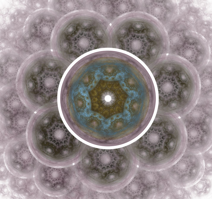 The atomic nucleus. Abstract representation. Image molecules and atoms