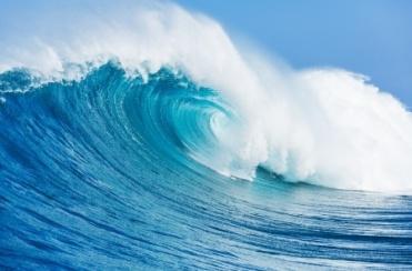 18291054 - blue ocean wave