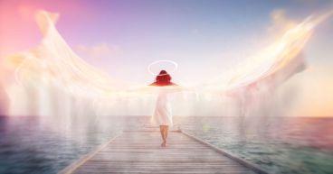 Spiritual conceptual image of a female angel