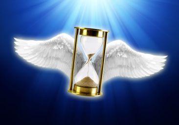 hourglass angel wings